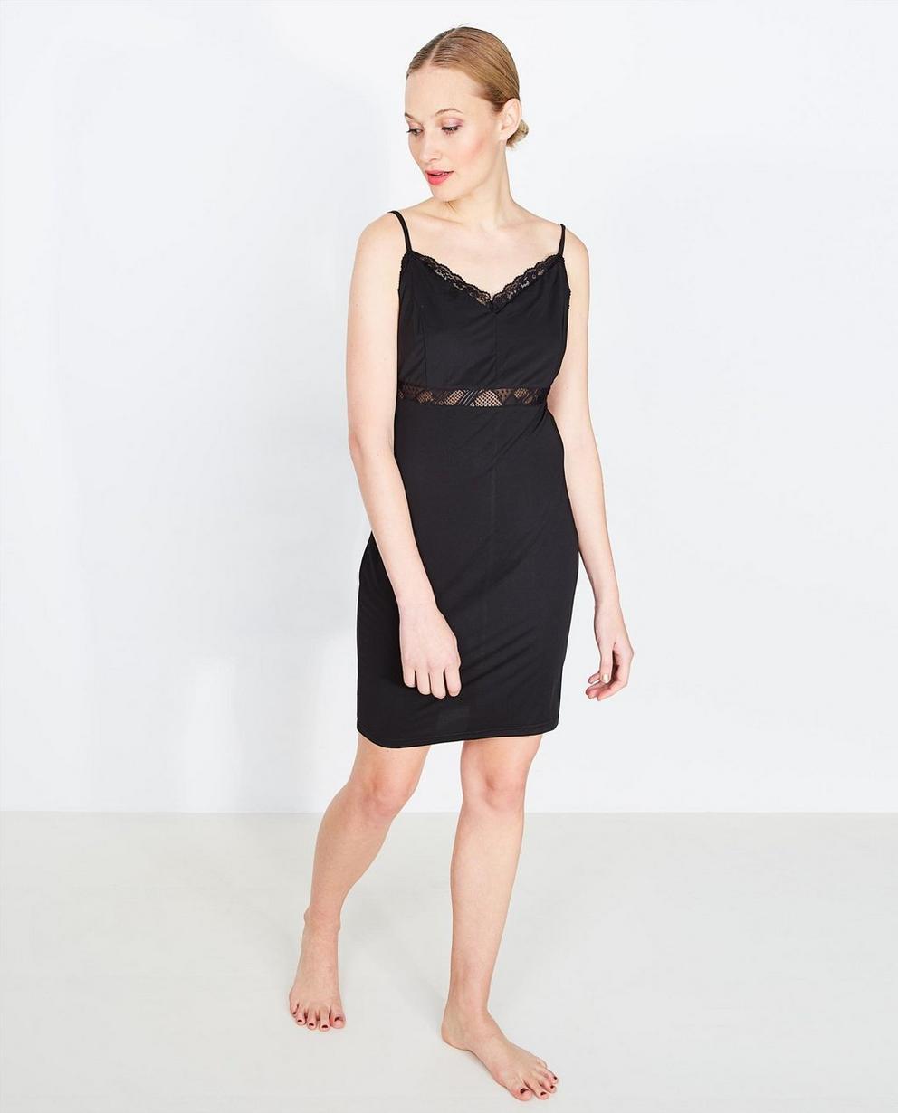 Slip dress noire - avec de la dentelle, PEP - Pep